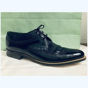 Stacy Adams Shoes - Sleek Black Patent Leather Dress Shoes for Men
